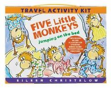 Five Little Monkeys Jumping on the Bed Travel Activity Set CD Stickers Game Book