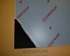 "BLACK POLYCARBONATE LEXAN MAKROLON SHEET 1/8"" x 16"" x 16"""