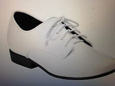 "DR TUXEDO MENS WHITE "" NICK"" SHOES / SIZE 8 WIDE"