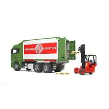 BRUDER 03580 Scania R Camion portacontainer + Muletto - Scala 1:16