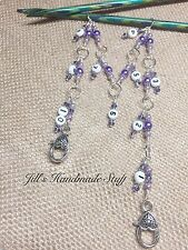 Knitting Row Counter- Purple 1-10 Chain Style Counter- numbered stitch marker