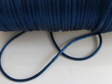 10 Metres x Dark Blue 2mm Rattail Rat Tail Satin Nylon Threading Beading Cord