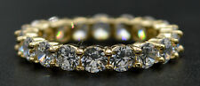 RM17 4.00ct Created Round Diamond Eternity Wedding Band Size 8 14K Yellow Gold