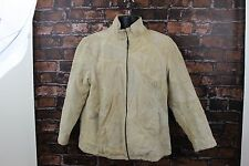 CASUAL OUTFITTERS GENUINE SUEDE LEATHER Patch work biker JACKET western Size XL