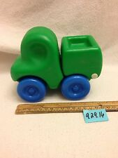 Vintage Little Tikes Chunky Rounded Green Dump Truck Toy Smiley Face GUC