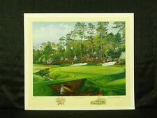 Linda Hartough Signed Hole 13 Azalea August National Masters Golf L/E Lithograph