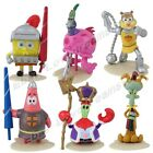 6x SpongeBob Squarepants/Patrick/Squidward/Plankton/MR.Krabs/Sandy PVC Figure