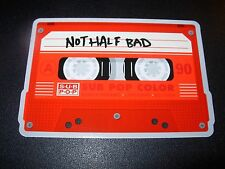 "SUB POP SEATTLE 4"" NOT HALF BAD Cassette Sticker Decal pearl jam nirvana"