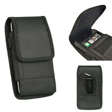 Rugged Nylon Pouch Canvas Case Belt Loop Holster+Hook For Kyocera DuraForce XD