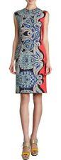 LANVIN MULTI-COLOR PAISLEY PRINT PENCIL ETE 2014 DRESS 42