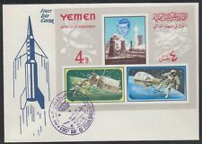 1965 Yemen Kingdom FDC Bl.27 Weltraum Space Kennedy [cm524]
