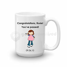 Personalised Congratulations Passed Driving Test Gift Large Mug For Girls Lady#4
