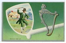 """""""The Ould Irish Jig"""" Antique Embossed St. Patrick's Day PC Pipe ca. 1911"""