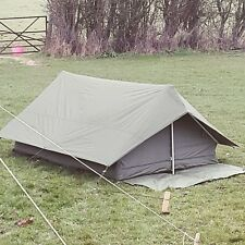 french f1 canvas and pu ARMY 2 MAN bushcraft TENT olive green grade 1