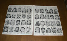 TWO 1967 NEW YORK GIANTS TEAM ROSTER PRINTS