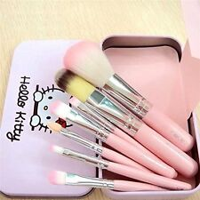 7 Pcs Pink Soft Makeup Brush Set Juegos de Brochas