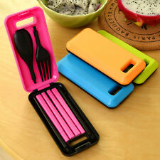 Portable Folding Spoon Fork Chopsticks Cutlery Tableware Dinnerware  Travel Set