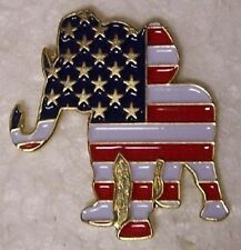 Hat Lapel Pin Scarf Clasp Animal Political Republican Elephant NEW - VOTE!