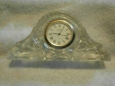Royal Gallery Lead Crystal desk clock Beautiful home decor collectible