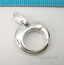 1x BRIGHT STERLING SILVER ROUND LOBSTER CLASP BEAD 14mm #2439