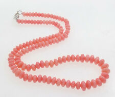 "Beautiful Natural Pink Coral Beaded Necklace 19""/48cm"