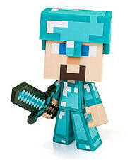 "Minecraft Diamond Edition Steve Vinyl 6"" Figure w/ Sword - Authentic BRAND NEW!"
