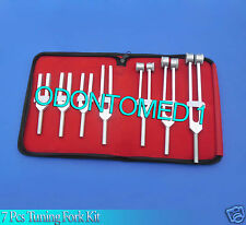 7pc NEW Tuning Forks Set ENT Surgical Medical Instruments Exam Diagnostic Tools