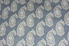 CLARKE & CLARKE HARRIET CHAMBRAY BLUE PAISLEY PRINT PVC OILCLOTH TABLECLOTH