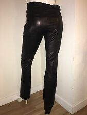Hugo Buscati Collection Leather Pants Moto Motorcycle Vintage High Waist 6 Tall