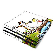 Skin Decal Cover Sticker for Sony PS4 Pro - Calvin and Hobbes Comic Tiger