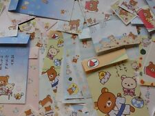 Rilakkuma SUMMER BEACH Stationery Letter Set Envelope Memo paper San-X Cute sale