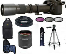 TELEPHOTO ZOOM LENS 500-1000MM + BACKPACK + TRIPOD FOR NIKON D3000 D3100 D3200