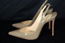 CHRISTIAN LOUBOUTIN  HIGH HEEL PATENT LEATHER SLING BACK PUMPS EU 38 US 7.5