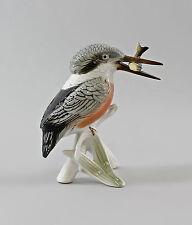 Porzellan Figur Ens Thüringen Rotbrust-Eisvogel mit Fisch 9997729