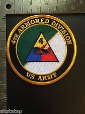 US ARMY 4th ARMORED DIVISION COMMEMORATIVE PATCH