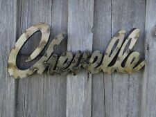 "MEXICAN METAL ART 19"" CHEVELLE SIGN CHEVY CHEVROLET GARAGE SHOP MAN CAVE DECOR"