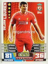 Match Attax 2014/15 Premier League - #152 Dejan Lovren - Liverpool