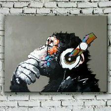 Large Framed Modern Abstract oil painting wall art canvas gorilla handpainted 09