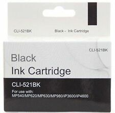 20 x Compatible Canon Pixma CLI-521BK Black Printer INK Cartridge CLI521