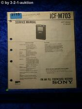 Sony Service Manual ICF M703 PLL Synthesized Receiver (#3115)
