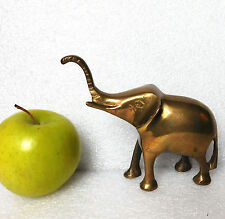 Vintage brass elephant ornament African wild big game animal figurine metal 4.5""