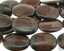 """8"""" Strand RED TIGER EYE 30x40mm Oval Pendant Beads"""