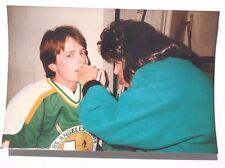Vintage 1990's MICHAEL J FOX ( Hockey) Los Angeles County ON SET Color Photo