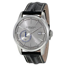 Hamilton Railroad Automatic Silver Grey Dial Black Leather Mens Watch H40515781