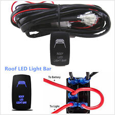 40 Amp Off Road ATV/Jeep Roof LED Light Bar Wiring Harness Relay & ON/OFF Switch