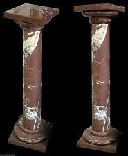 Colonna Marmo rosso laguna Marble Vintage Classic Old Home Design Column H.100cm