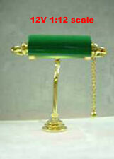 Clearance SALE desk table Readingl Lamp12v dollhouse miniature1:12 light