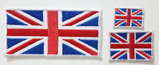 Union Jack British UK Flag set   EMBROIDERED SEW IRON ON PATCH BADGE set