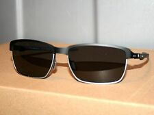 OAKLEY TINFOIL CARBON Matte Black Silver w/ Grey Lens Mens Aviator Sunglasses