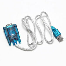 USB 2.0 to 9 Pin Serial RS232 Cable DB9 to DB25 Male Adapter Connector Hot